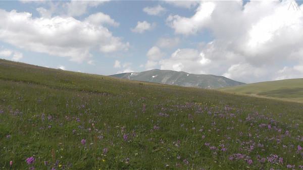 Вид на гору Нагайчук с горы Абадзеш