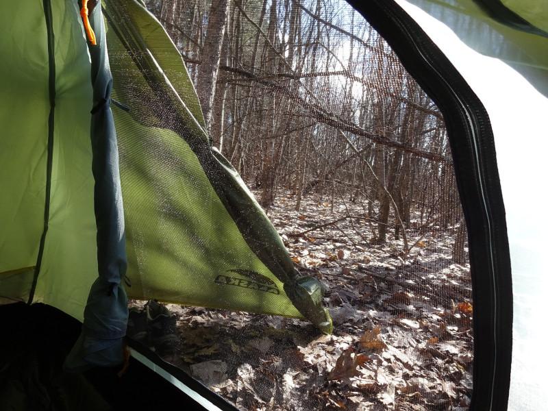 Палатка Трек 2 - вид через маскитную сетку