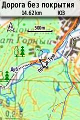 Карта 500 м