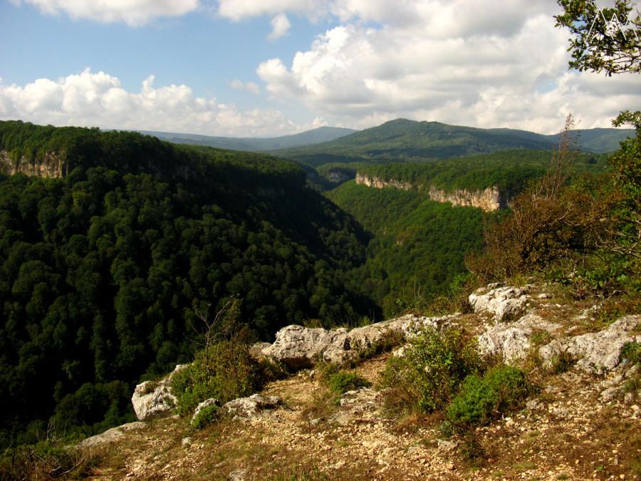 Вид на ущелье реки Аминовка