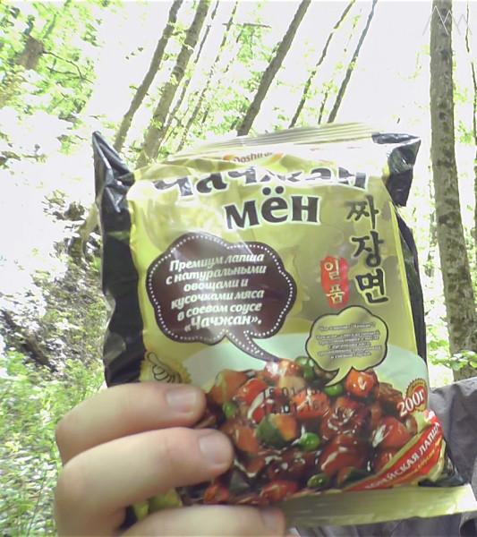 Корейская лапша, упаковка