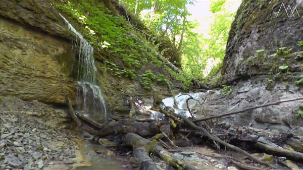 Водопады и пороги реки Аминовка