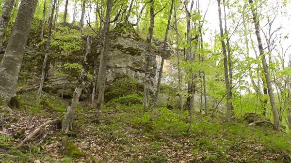 Скалы недалеко от пещеры Саксофон, берег реки Аминовка