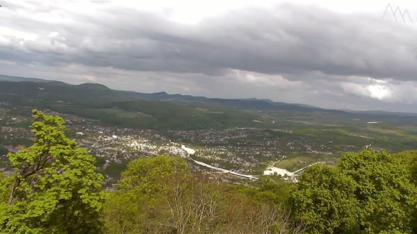 Панорама горы Батарейная, скала Слон
