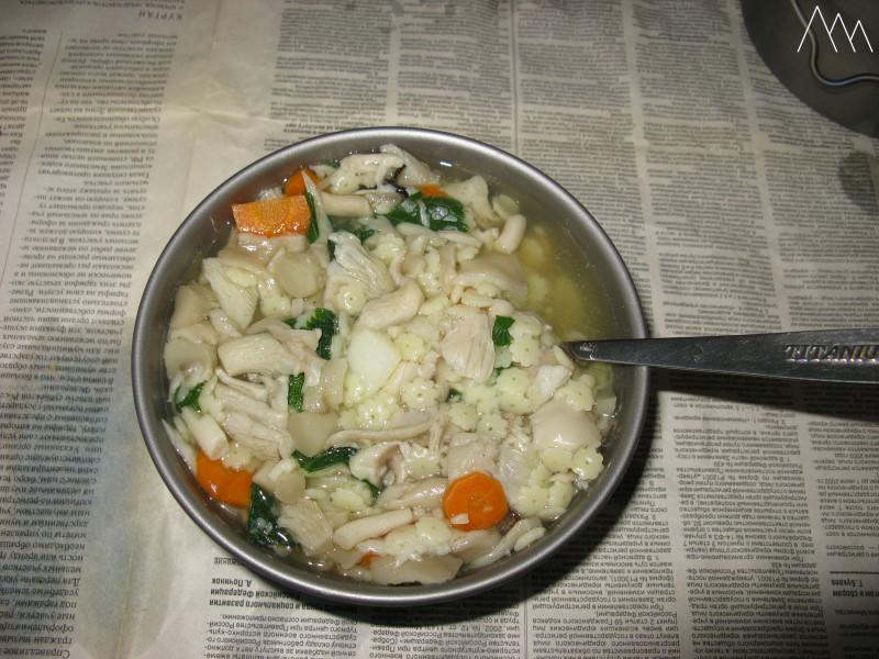 Грибной суп из вешенок с чесночным грибом