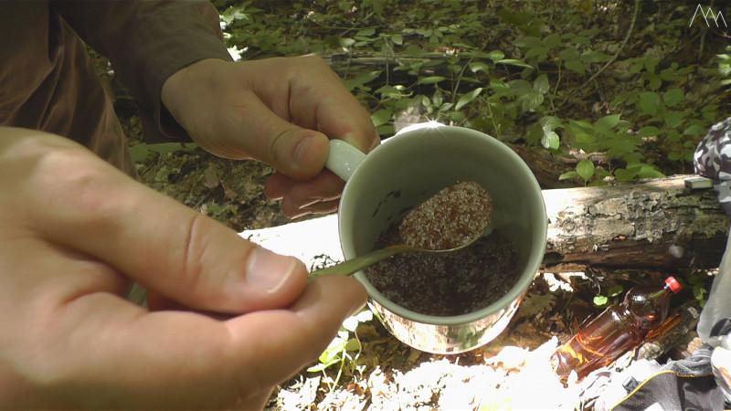 Растворимый кофе с сахаром