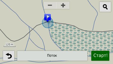 Garmin Nuvi - выбор точки на карте