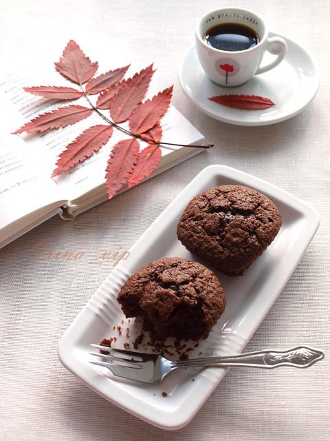Заварные шоколадные маффины рецепт