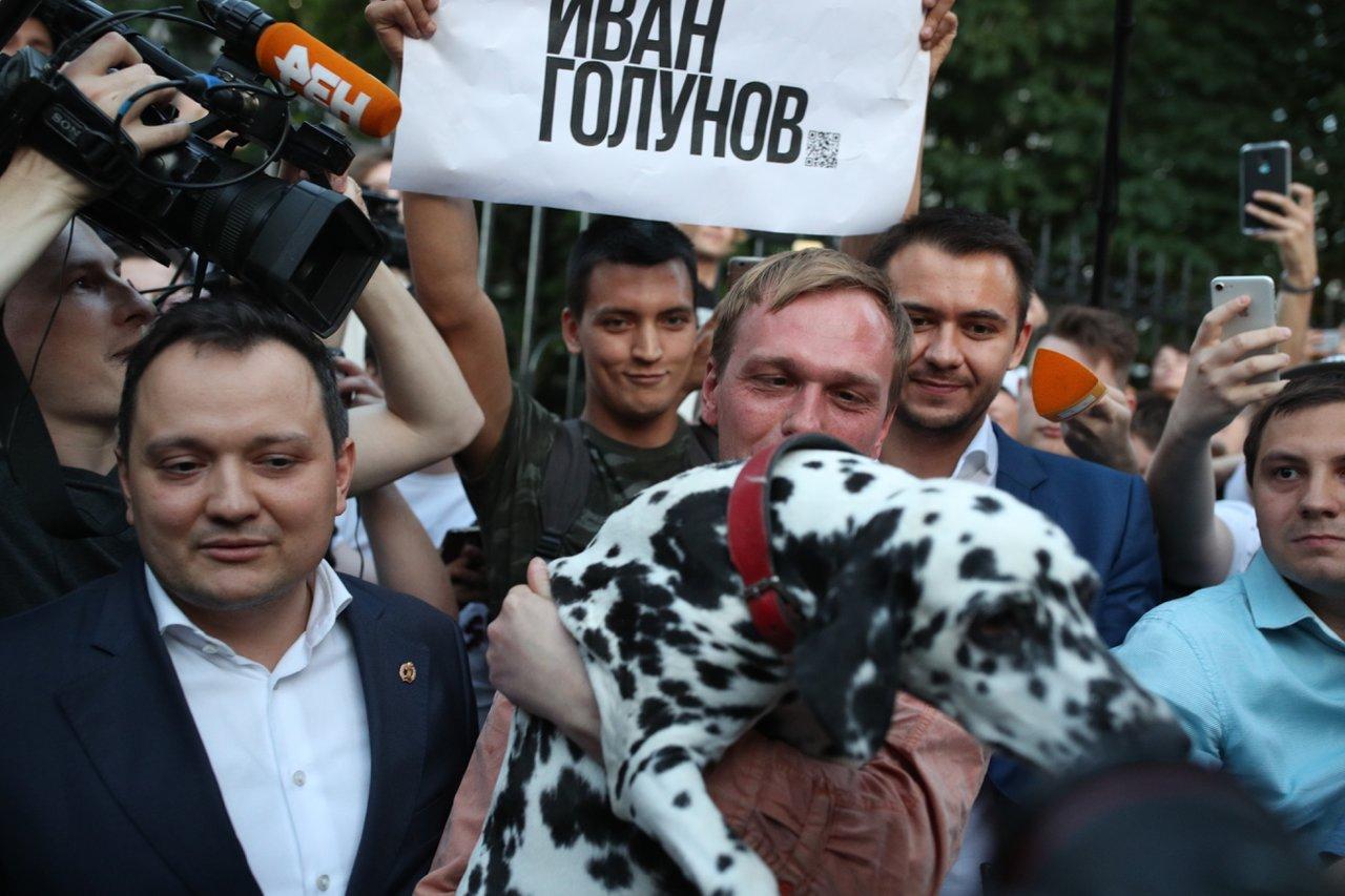Иван Голунов на свободе (Фото: Евгений Фельдман для «Медузы»)