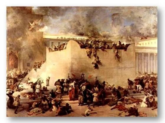 Разрушение Иерусалимского Храма, Худ. Франческо Хайес,