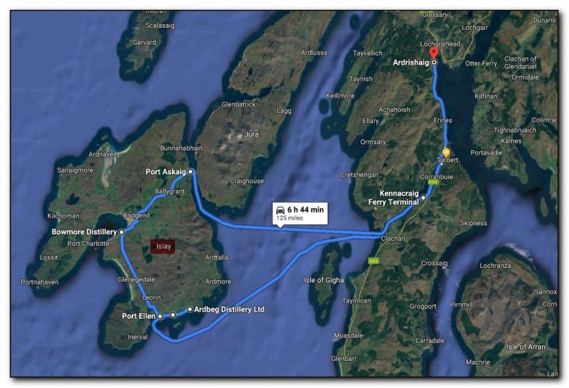 Карта посещения острова Айла