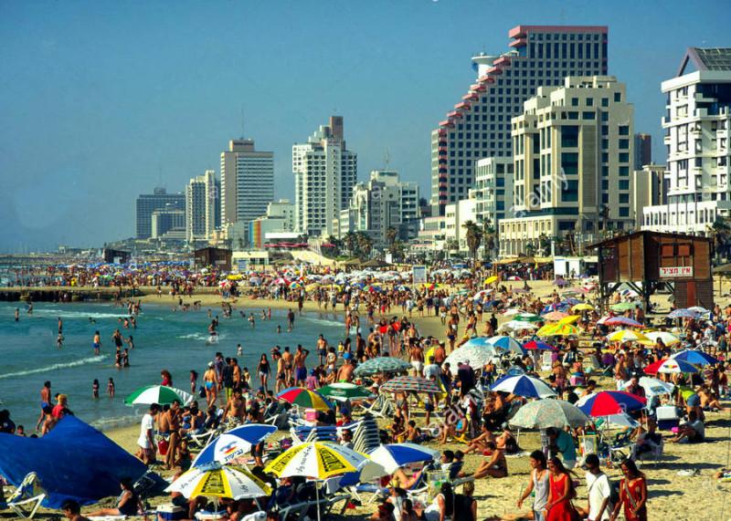 """Тель Авив. Пляж """"Иерушалаим"""""""
