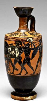 Чернофигурная коринфская ваза