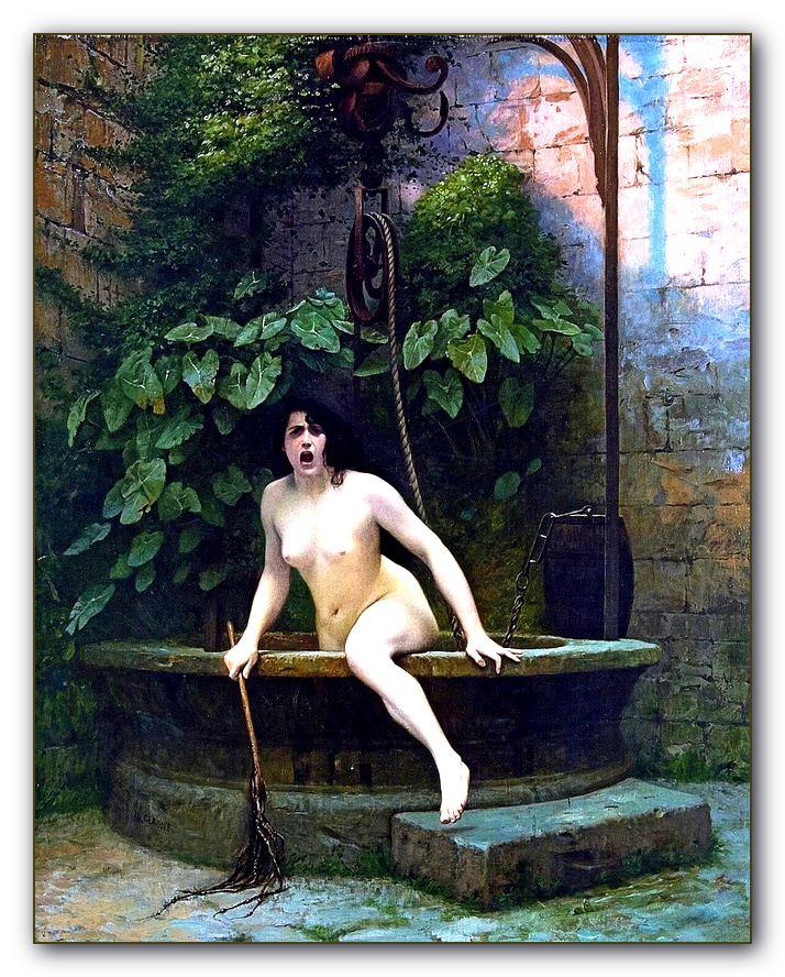 Жан-Леон Жиром, Правда, выбирающаяся из колодца. 1896
