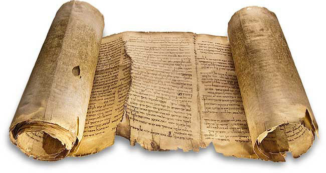 Большой свиток пророка Исайи . Размер - 7,34 х 0,3 м. 54 колонки содержат все 66 глав современного текста Ветхого Завета