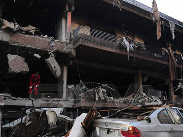 Атакованное здание в Дамаске, 12 ноября 2019 года (SANA)