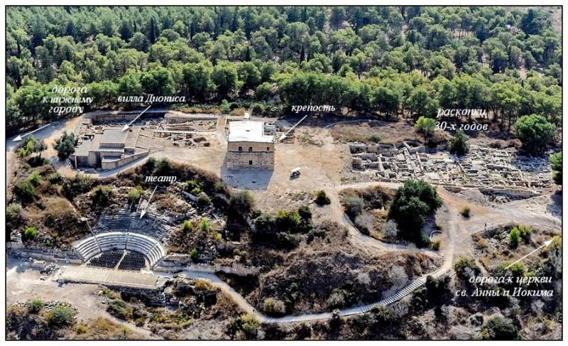 Ципори. Верхний город. Современный вид (Википедия)