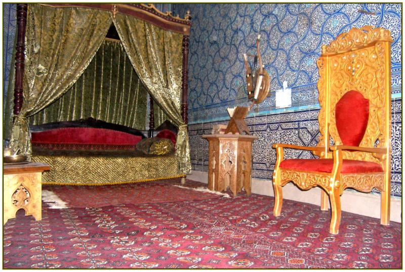 Спальня во дворце хана в Хиве