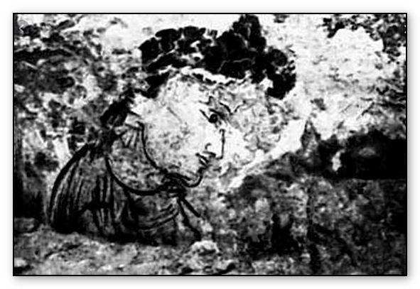 Настенная живопись из Топрак-Кала (фото С.П.Толстов)