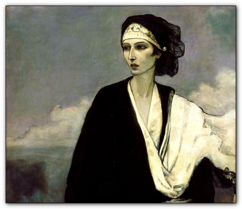 Ромейн Брукс (Romaine Brooks), Ида Рубинштейн, 1917, Смитсоновский музей американского искусства