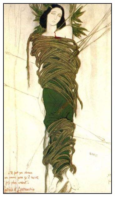 Л. Бакст. Костюм Иды Рубинштейн в роли Святого Себастьяна, 1911 год
