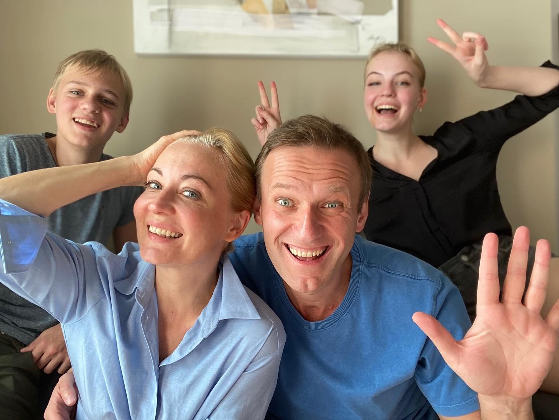 А.Навальный с семьей