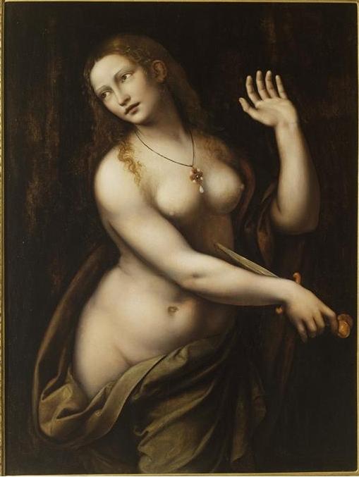 Джампетрино. Самоубийство Лукреции, 16 век