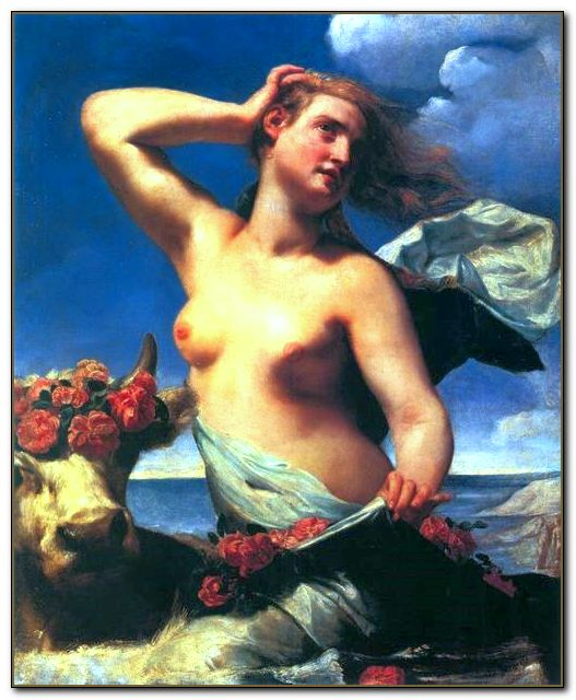 "Гвидо Кагначи (Guido Cagnacci), ""El rapto de Europa"", 1650"