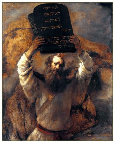 Рембрандт. Моисей разбивает скрижали Завета