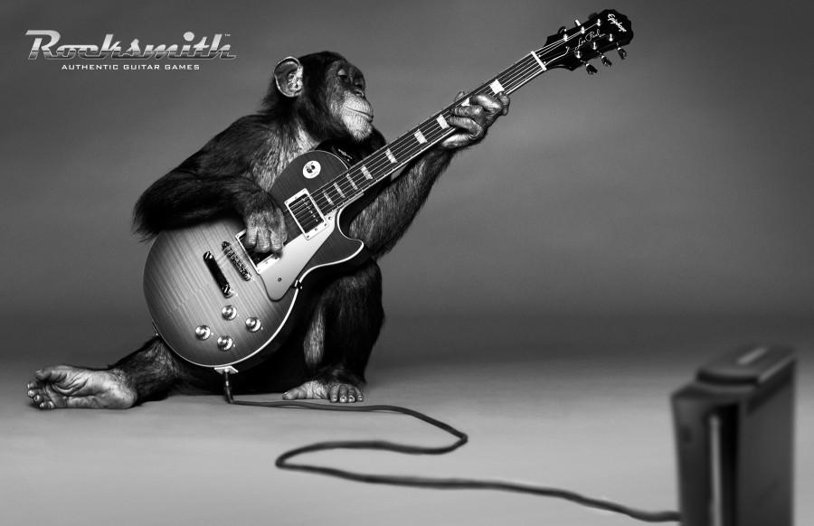 Джерри играет гитаре