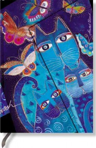 paperblanks laurel burch blue cats and butterflies
