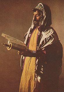 Йеменский еврей (1914), на лбу виден тфилин.
