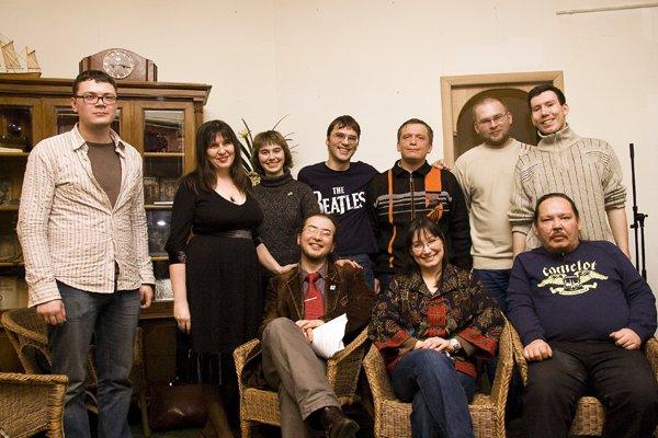 Первая акция Сибирского тракта в Москве. Булгаковский дом, 24 февраля 2008