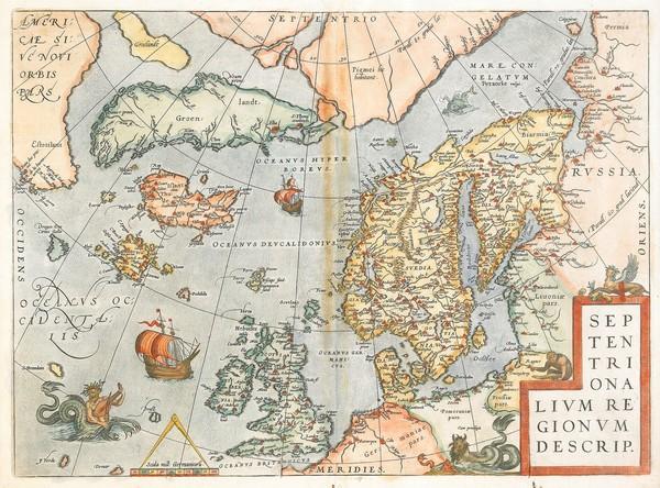 Даария на картах Абрахама Ортелиуса