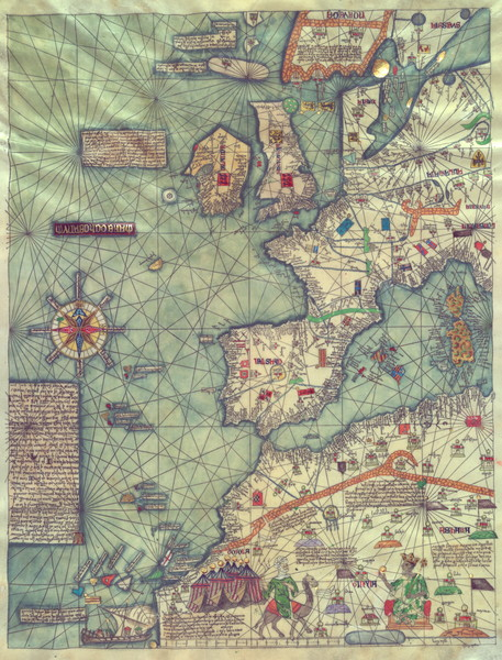 Catalan Atlas 1375 Panel3 Western Europe