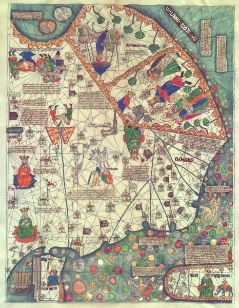 Catalan Atlas 1375 Panel6 Eastern Asia