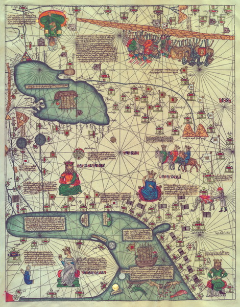Catalan Atlas 1375 Panel5 Western Asia
