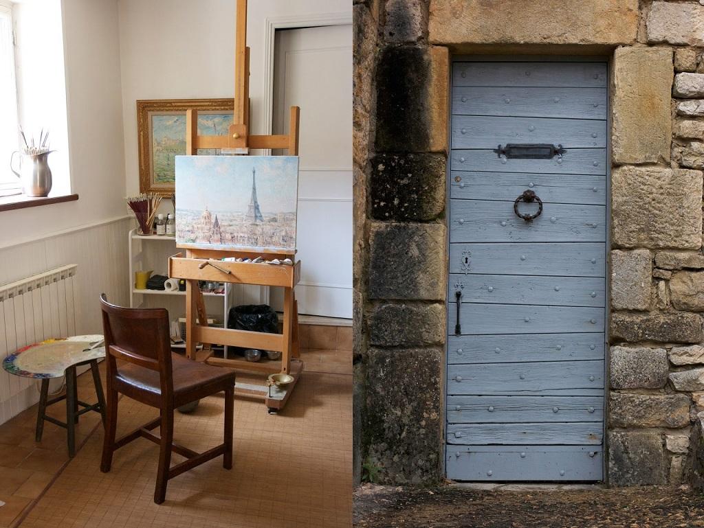 19_steph brubaker - pierre van dijk impressionist painter studio