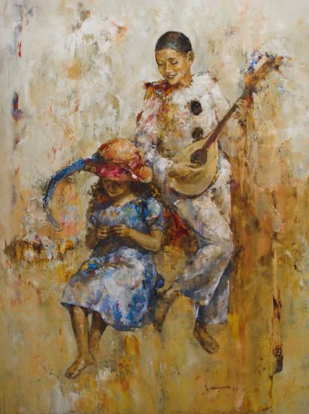 Красивая мелодия., 80х60. Х-м. 2011