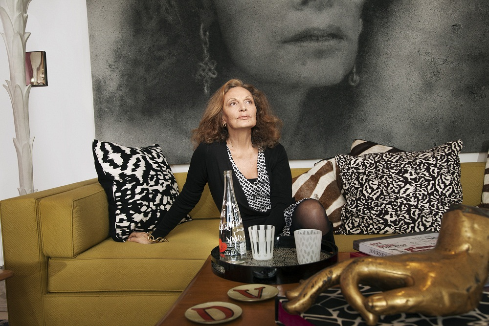 DVF on couch
