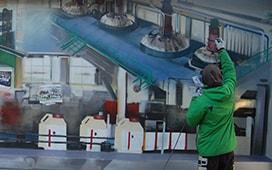 Реставрация и роспись стен в «Щелково Агрохим» к юбилею