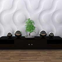 Декоративные 3Д гипсовые стеновые панели и их применение в дизайне интерьеров