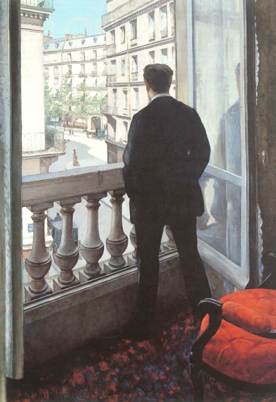 A Young Man at His Window  -  1875