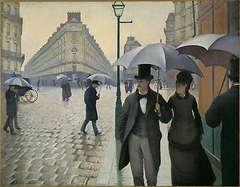 Paris street, Rainy Day  -  1877