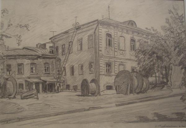 В 1-м Котельническом переулке. 1974