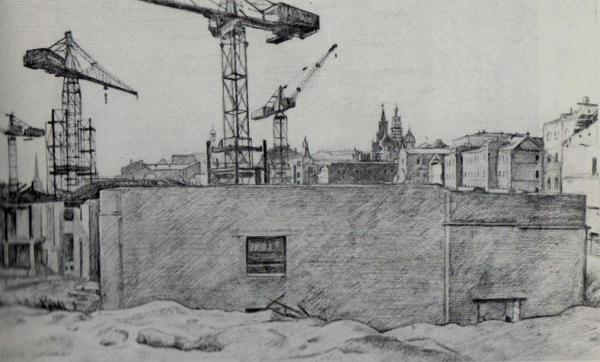 Строительство в Зарядье(1955)