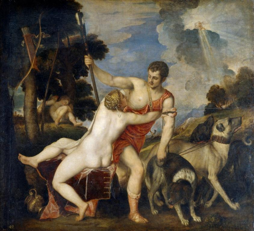 Венера и Адонис (1554) (186 x 207) (Мадрид, Прадо)
