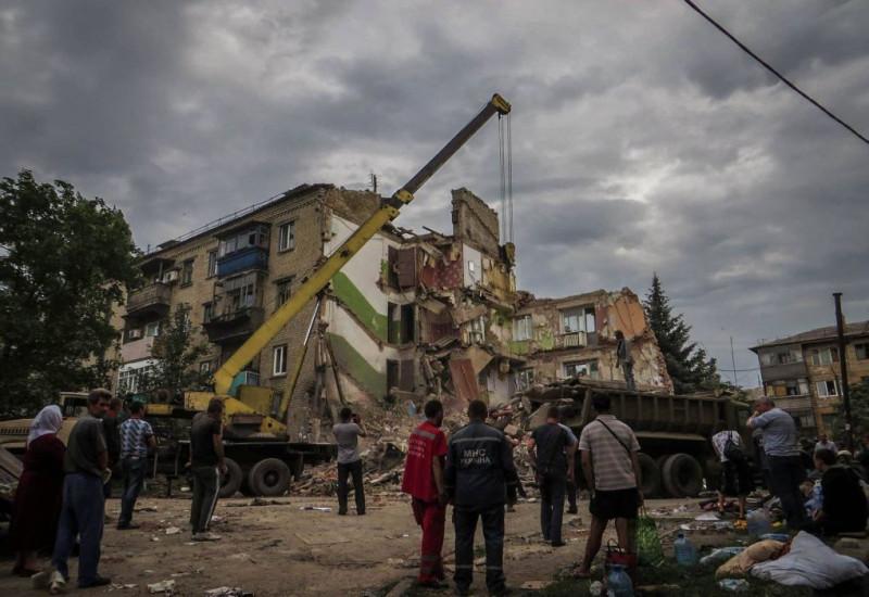 .Обстрел Снежного украинской авиацией, 2014 год. (с) фото из соцсетей