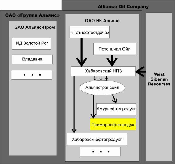 Альянс структура