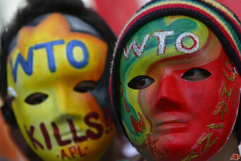 Филлипины митинг против ВТО
